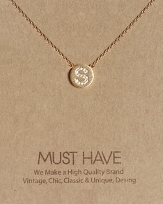 MUST HAVE series: Initial Gold Necklace Letter S