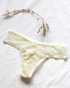 Cream Lace panties Anemone USA