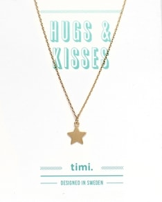 MAKE A WISH series: Gold Star Card Necklace