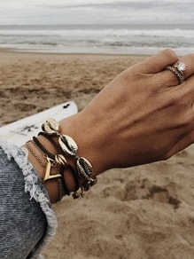 Náramek All Gold Shell bracelet