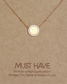 MUST HAVE series: Gold Plain Circle Crystals