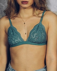 Teal lace bra Anemone USA