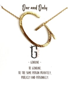 MUST HAVE series: Signature Letter G