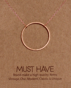 MUST HAVE series: Rose Gold Karma Pendant