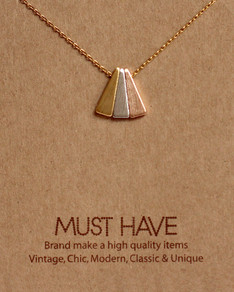 MUST HAVE series: Gold Colored Triangle Pendant