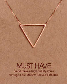 MUST HAVE series: Rose Gold Triangle Pendant