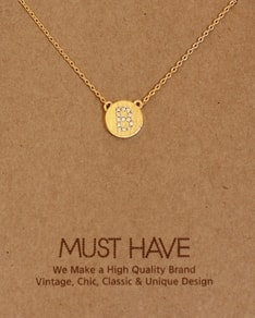 MUST HAVE series: Initial Gold Necklace Letter B