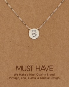 MUST HAVE series: Initial Silver Necklace Letter B