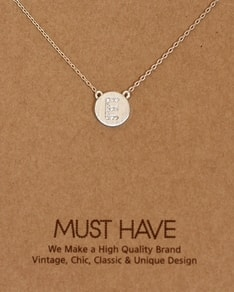 MUST HAVE series: Initial Silver Necklace Letter E