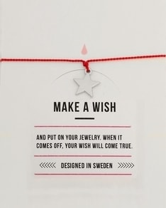 MAKE A WISH series: Star Silver Silk Bracelet