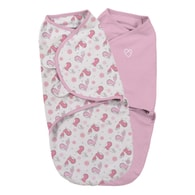 Summer Infant SwaddleMe S růžová/ptáčci 2ks