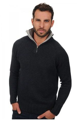 charcoal marl flanelle chiné