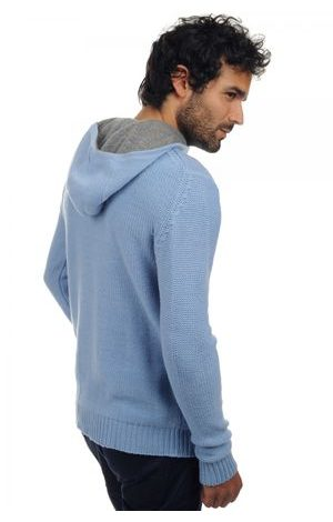 sky blue grey marl
