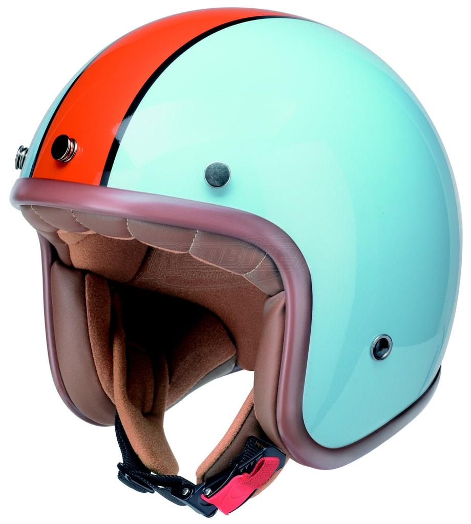 c1b72bf6d Topmoto.cz - Moto chopper helma RB - 764 / světle modrá - oranžová ...
