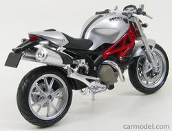 Model DUCATI monster 1100 1:12 - stříbrná
