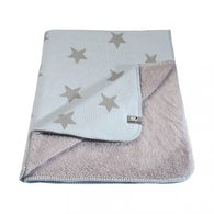 Baby´s Only Star Teddy Blanket - Dětská deka - 02. Baby Blue/Grey 95x70