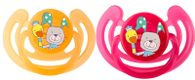 "Rotho® Modern Feeding Cool Friends ""Soothers"" - Dudlík - Smile - Raspberry / Mandarine"