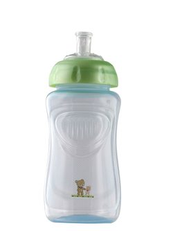 "Rotho® Modern Feeding Four Little Friends ""Cup Soft spout Sipper"" - Naučná láhev s měkkou hubičkou sipper"