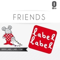 Label-Label Friends Pacifier Clip Klip na dudlík