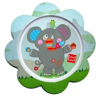 Label-Label - Friends Melamine Flower Plate - Elefant
