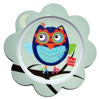 Label-Label - Friends Melamine Flower Plate - Owl Boys