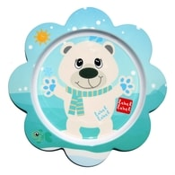 Label-Label - Friends Melamine Flower Plate - Polar Bear