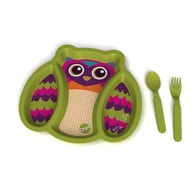 O-OOPS Plates with Compartments! - Owl Mr. Wu