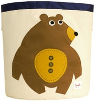 3 Sprouts Storage Bin - Bear