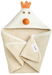 3 Sprouts Hooded Towel - Chicken