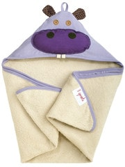 3 Sprouts Hooded Towel - Hippo