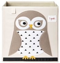 3 Sprouts Storage Box - Snowy Owl