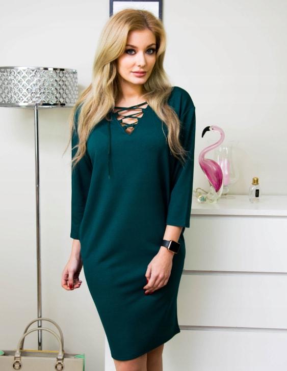 29c341fa6fef Krasaprozeny.cz - Moderní dámské šaty - smaragd - Móda XXL - 5XL ...