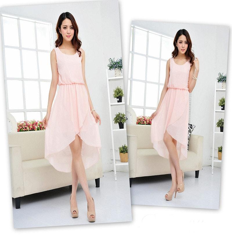 a0aac57afe5a Krasaprozeny.cz - Luxusní dámské šifonové šaty - pink - Sukně