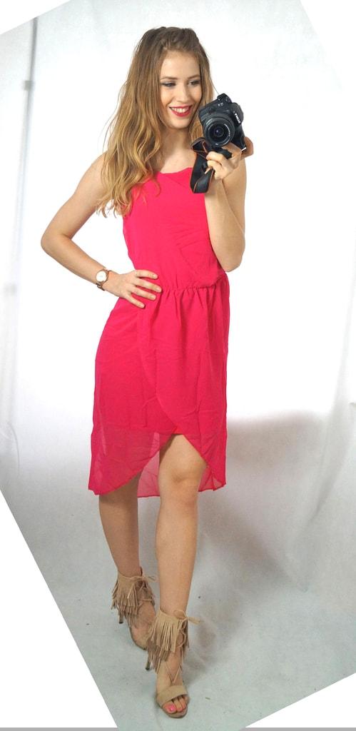 85b7872d3c29 Krasaprozeny.cz - Luxusní dámské šifonové šaty - fuchsia - Sukně ...