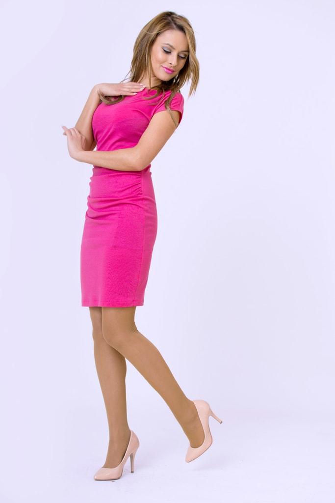 4c53b04fe2a0 Krasaprozeny.cz - Dámské luxusní nařasené šaty - růžová - Sukně ...