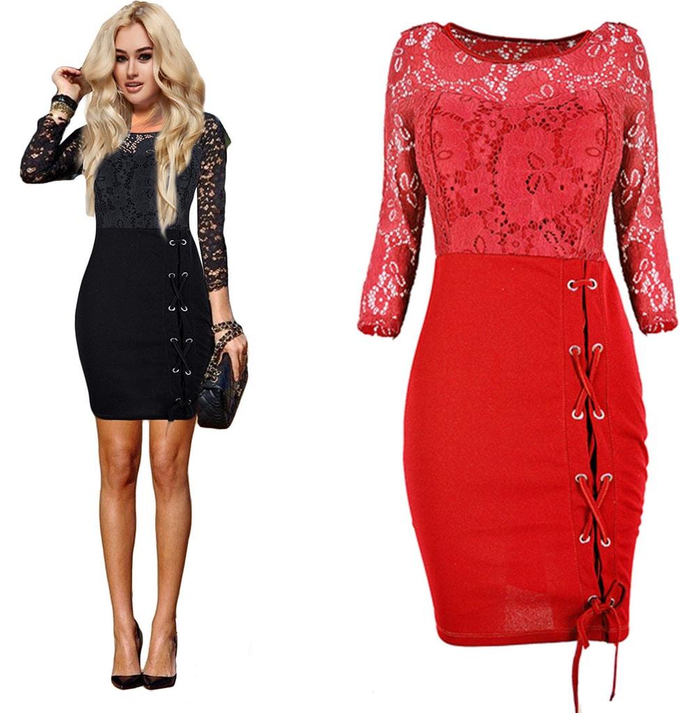 6300dfbce345 Krasaprozeny.cz - Luxusní krajkové šaty - red - Sukně