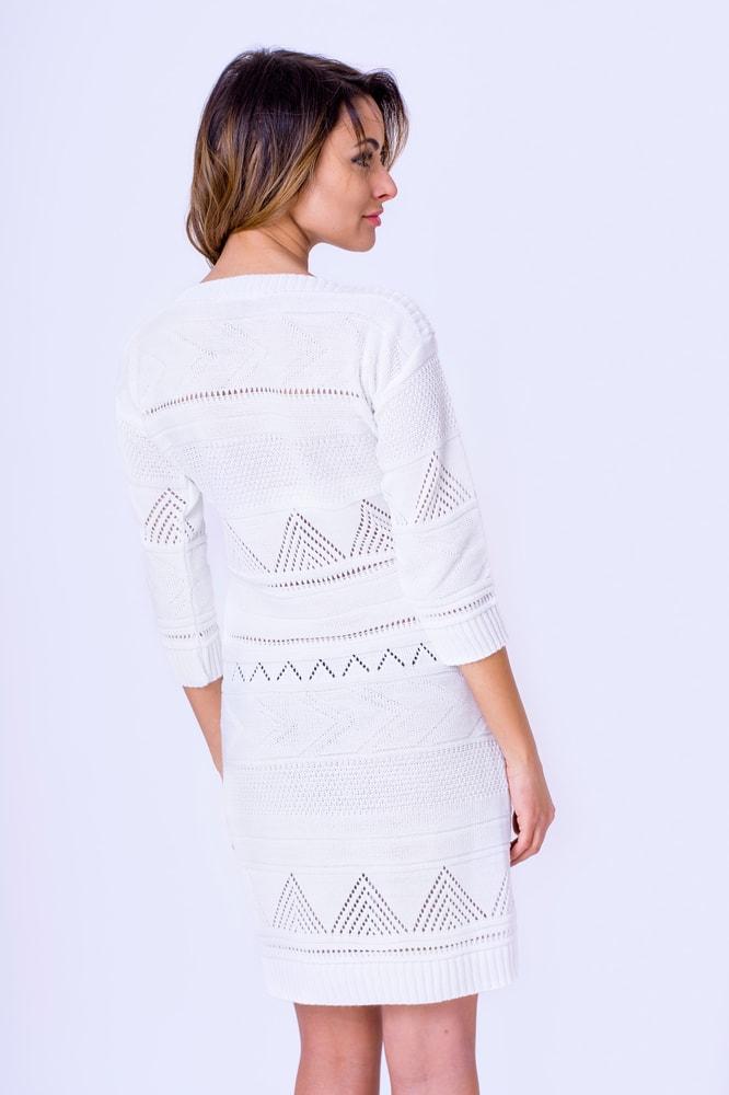 4efd07091d54 Krasaprozeny.cz - Luxusní pletené šaty - white - Sukně