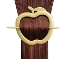 Spona na záclonu jablko - antické zlato 1ks