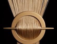 Provázková záclona Exkluzive- zlatá