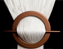 Provázková záclona Luxury s korálky - bílá