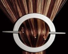 Provázková záclona Luxury Duo efekt s korálky- capucino