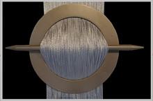 Provázková záclona Exkluzive- stříbrná