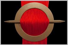 Provázková záclona Exkluzive- červená