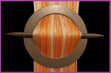Provázková záclona De Luxe trio-effect-bílá-pomeranč-ecru