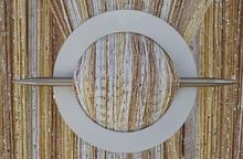 Provázková záclona Luxury - bílá, zlatá, ecru