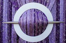 Provázková záclona Luxury - fialová mix