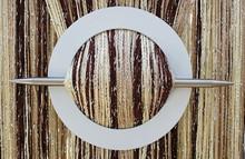 Provázková záclona Luxury - hnědá, zlatá, ecru