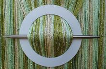 Provázková záclona Luxury - olivová, zelená, ecru
