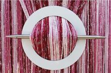 Provázková záclona Luxury - růžová mix