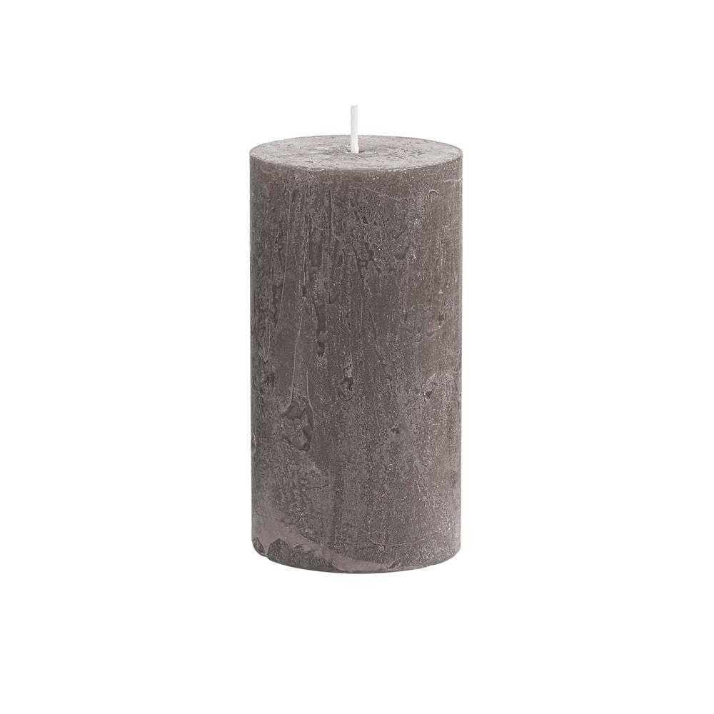 RUSTIC Svíčka 13 cm - šedohnědá